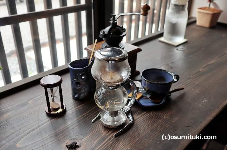 ふくろう珈琲店は自分でコーヒーを淹れるカフェなんです