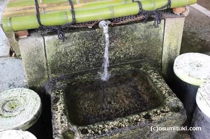梨木神社にある京都三名水のひとつ「染井の井戸」