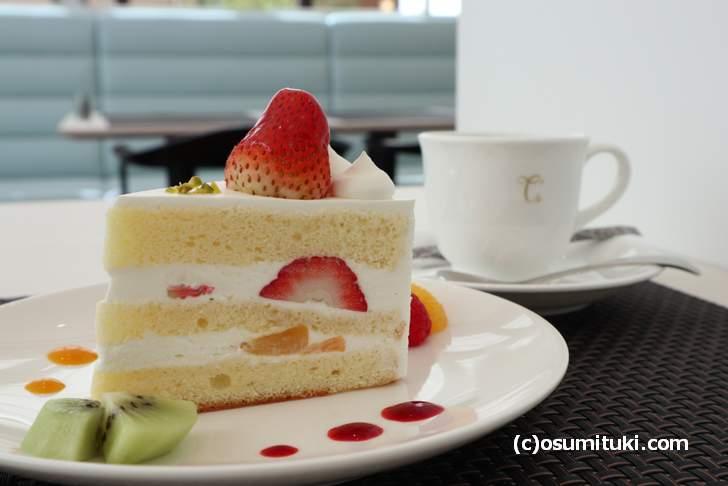 苺のショートケーキ(カフェ Miyabi)