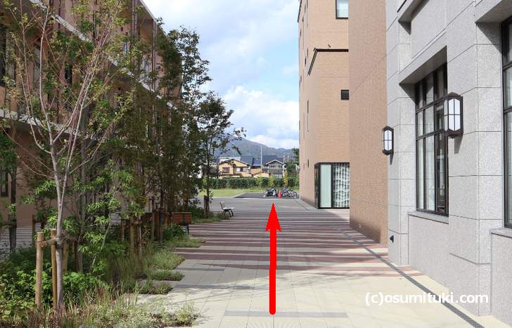 駐輪場はお店の左側奥にあります(Shop & Cafe Miyabi)