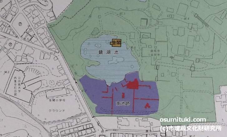 南池の位置(市埋蔵文化財研究所 資料より)