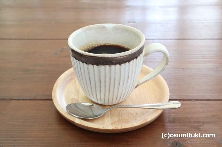 コーヒーは酸味と苦味が爽やかなコーヒーです 450円(galerie terre plus cafe)