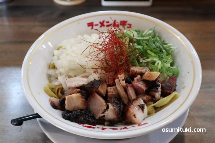 名古屋コーチン鶏油そば(850円)