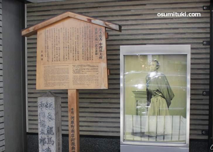 近江屋跡、今は回転寿司の「かっぱ寿司」になっています