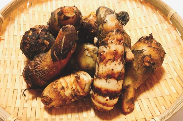 京都の「海老芋(えびいも)」は肉質が柔らかいのが特徴