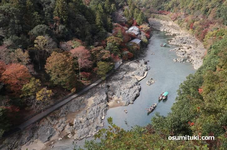 嵐山の紅葉三大名所は見頃といって良い紅葉具合でした(2018年11月14日)
