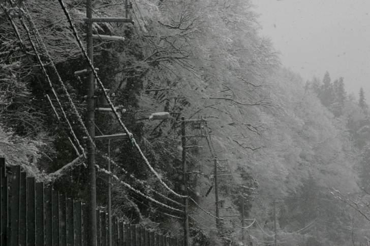 兵庫県美方郡香美町小代(おじろ)区、冬は積雪で行くのは困難です