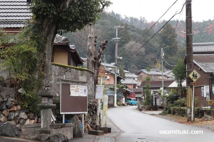 京都バス55系統「静原下の町バス停」