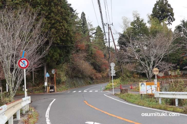 京都バス55系統「江文神社バス停」