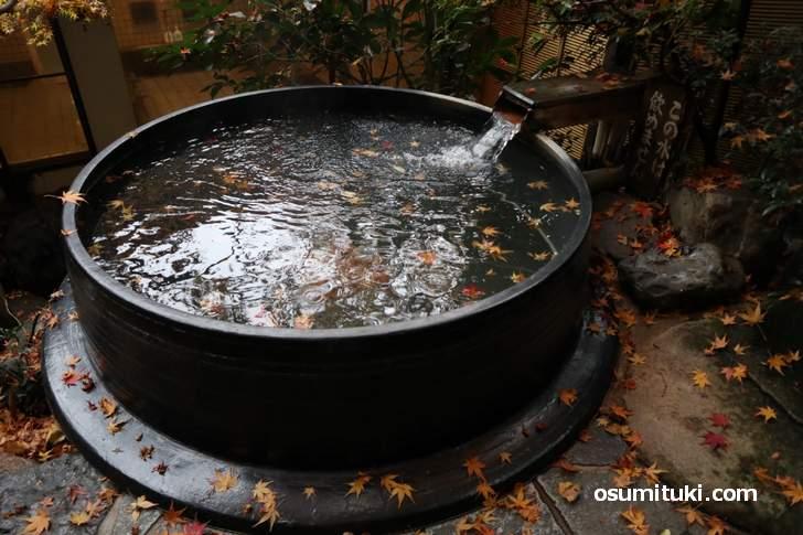絶景の五右衛門風呂がある天然温泉「大原の里」
