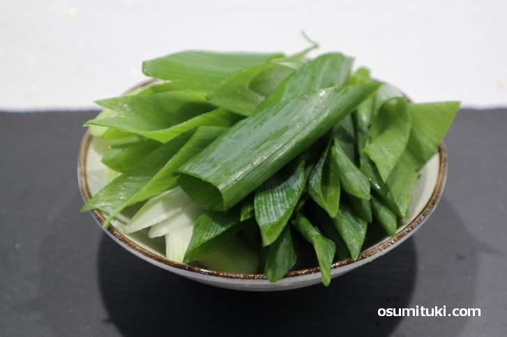 京都市北区で作られている伝統野菜「賀茂ねぎ」