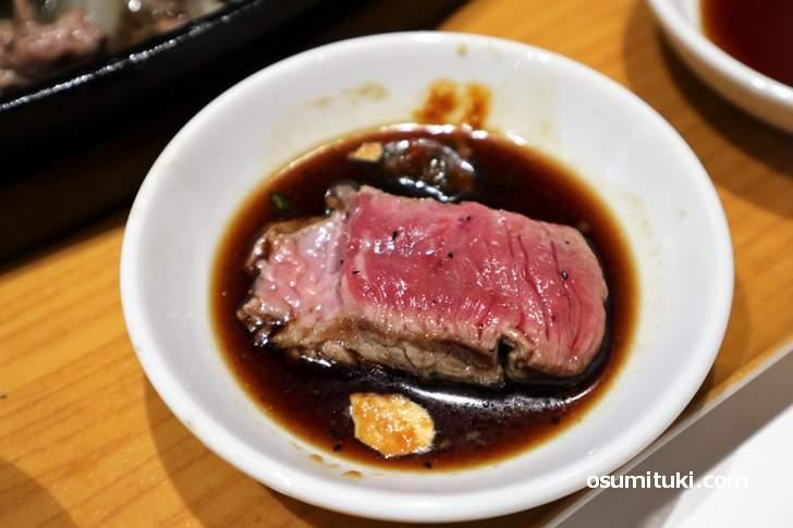 タレは「ステーキダレ、塩ポン酢、スタミナダレ」の3種類