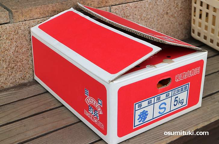 赤い箱が特徴です(的兵みかん)