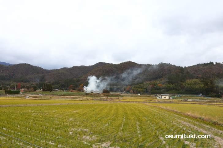 嵯峨野からも冠雪は見られませんでした(2018年12月9日)