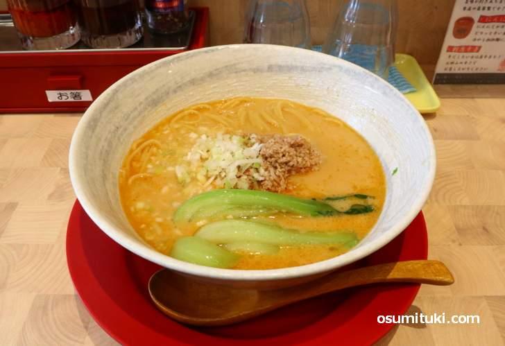 今回も「担担麺(700円)」を食べてみました