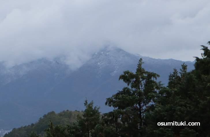 比叡山では初冠雪(2018年12月15日)