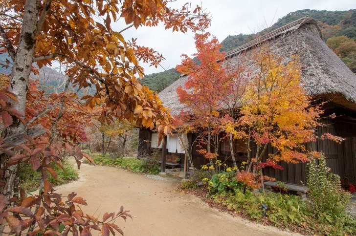 郷土料理や日本の原風景が楽しめる「おがわ作小屋村」
