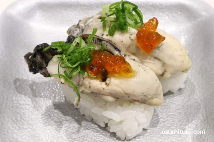 釜茹で牡蠣(220円)