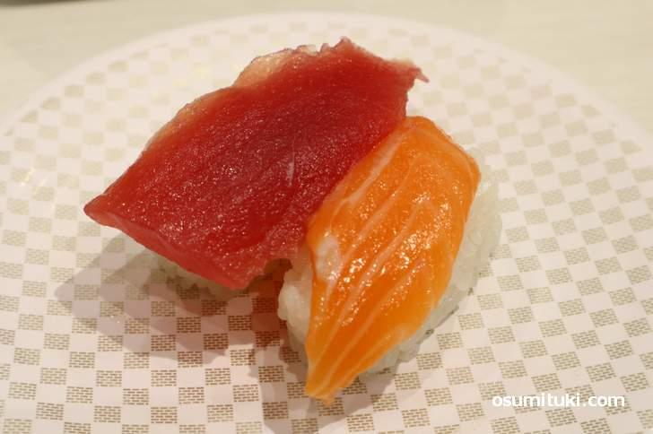 マグロ&サーモン(100円)