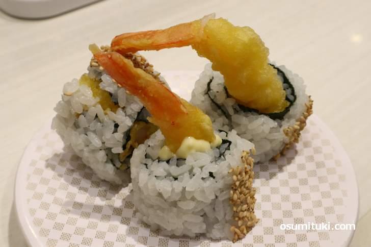 魚べい 大人気寿司「えび天巻」(100円)