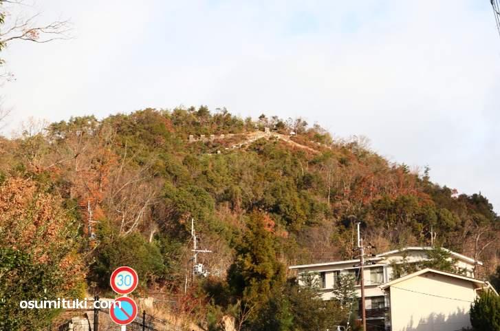 京都・金閣寺エリアの左大文字山(2018年12月28日朝)