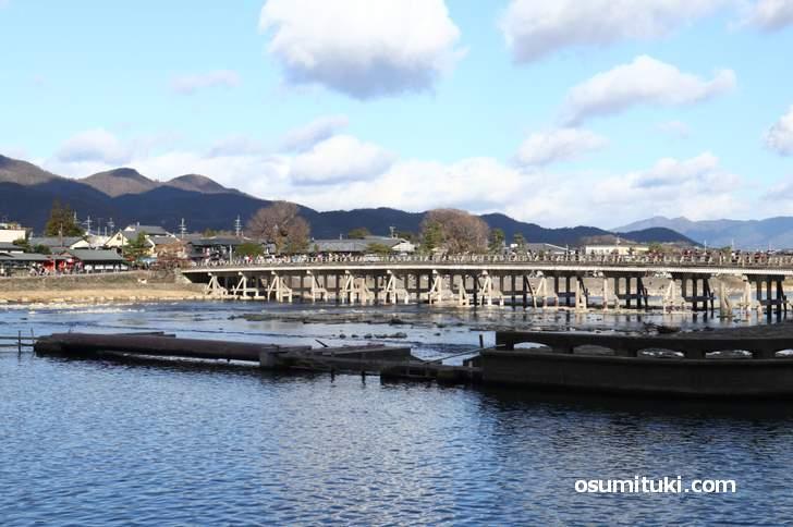 渡月橋の撮影にオススメです