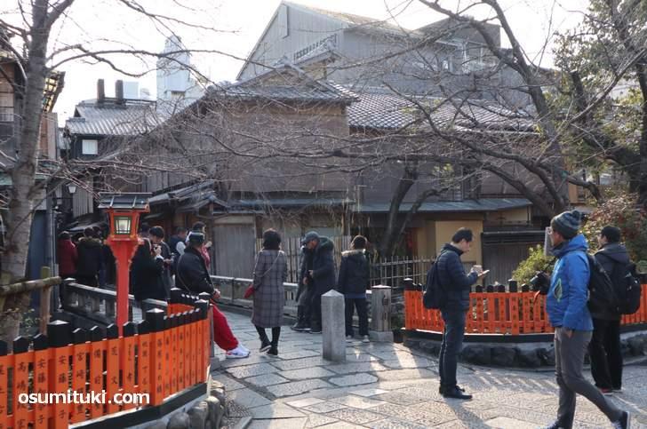 年末から3月にかけては中国人観光客が多くなります