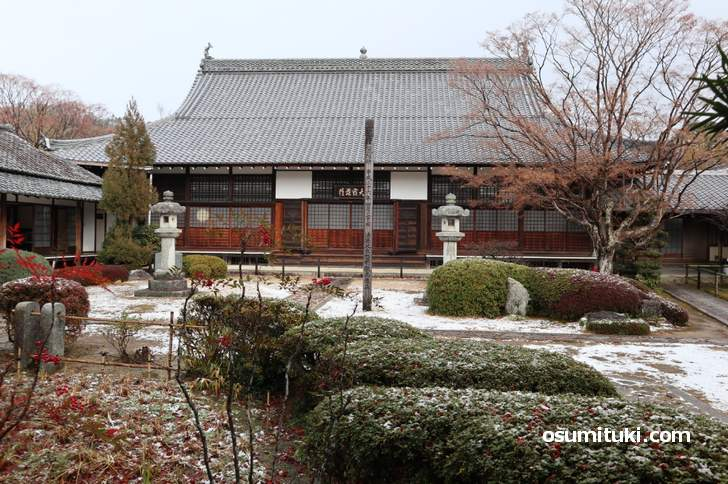 京都・源光庵の積雪(2019年1月9日10時)