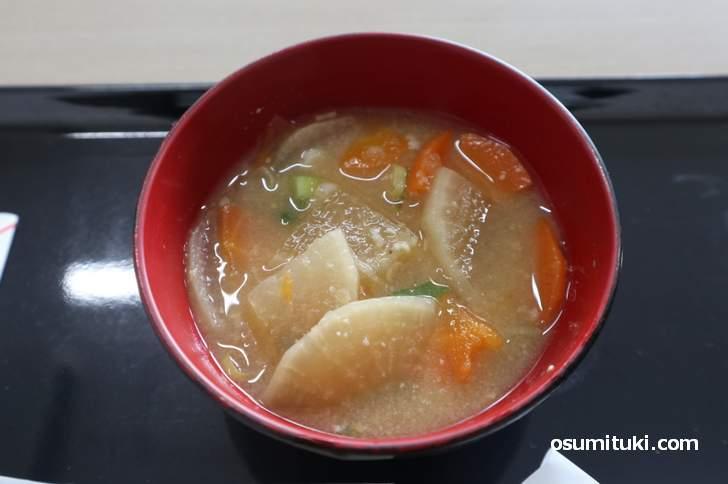 当尾野菜だけで作ったお味噌汁