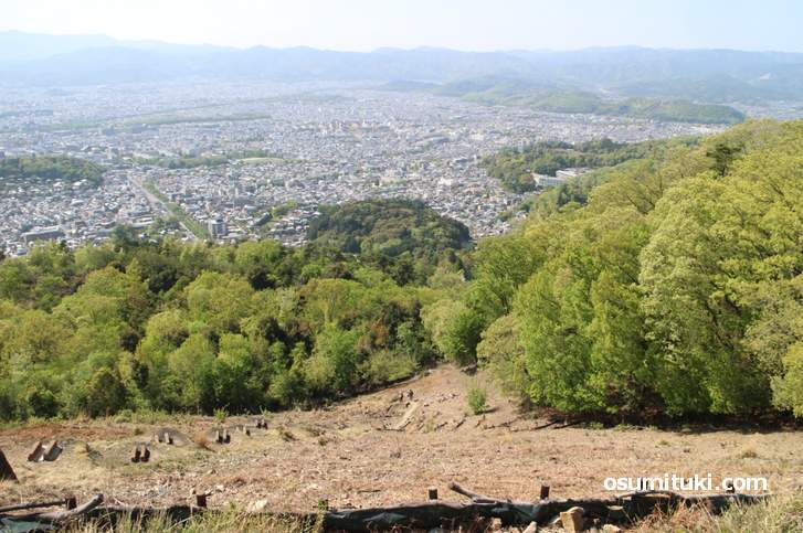 大文字山の南斜面で檜尾古寺跡(ひのおこでらあと)が発見されました