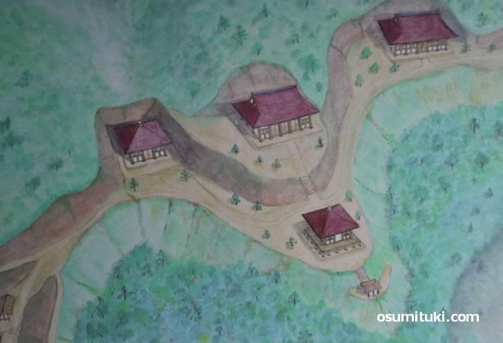 檜尾古寺跡の復元図(想像)
