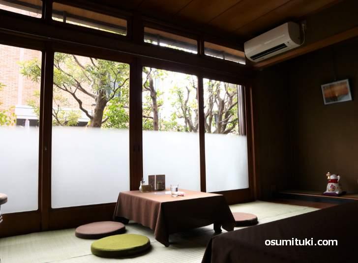 とても落ち着く和室でのんびりとお茶ができる「カフェぷあぷ」(掲載許可済)