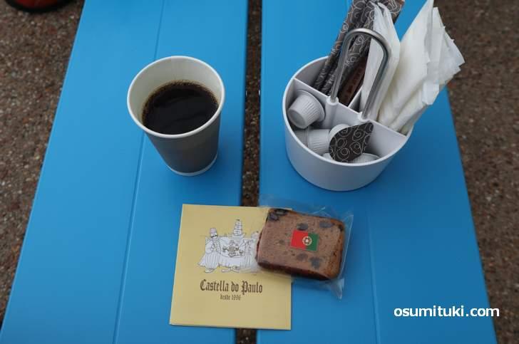 これが「イマデガワカフェ」の25円コーヒーです