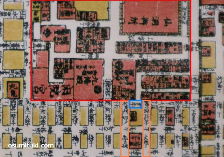 幕末京都「桑原町」の地図(京屋長兵衛 古地図)