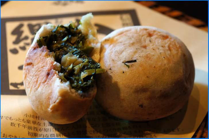 長野県小川村の「おやき」は野沢菜が入った郷土料理のこと