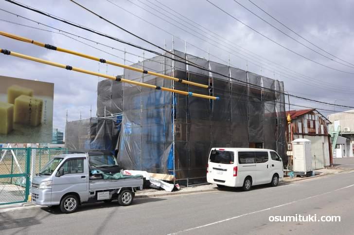 京都府城陽市寺田の城陽JCT近くで建設中のラーメン店は「麺屋 龍仙 城陽店」