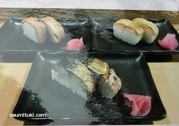押し寿司があるのが特徴的でした