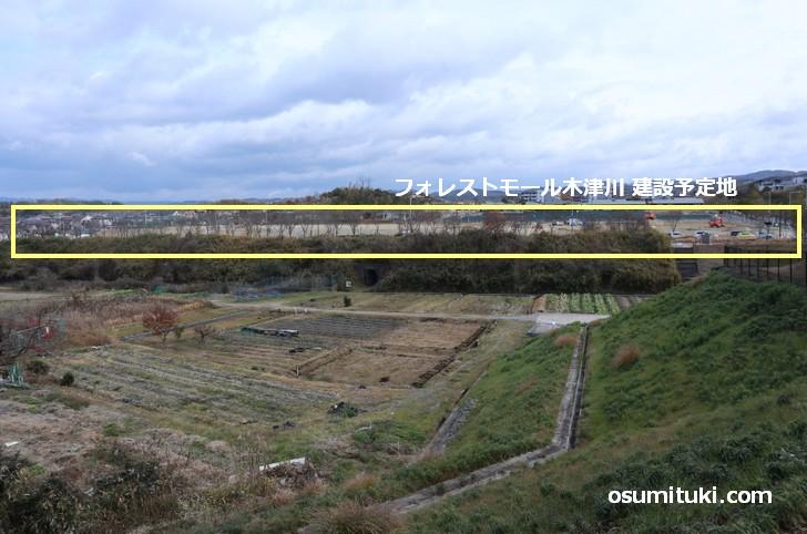 フォレストモール木津川が出来るのは府道44号線、奈良との県境です