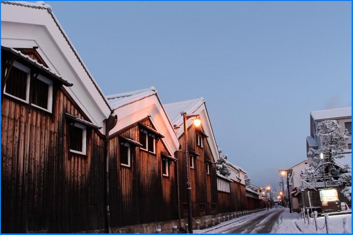 冬の京都「伏見の酒蔵」