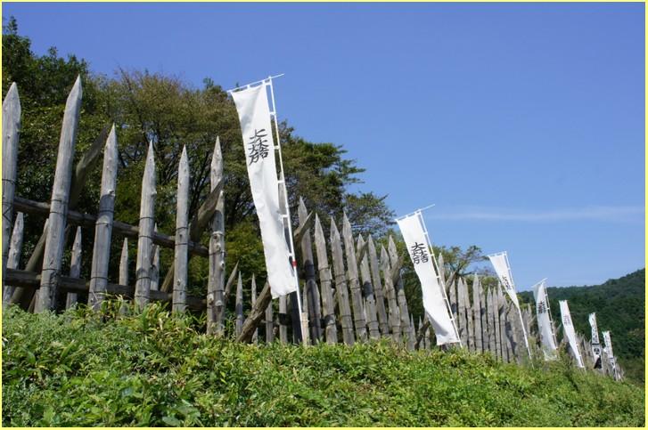 関ヶ原の笹尾山に再現されている石田三成の本陣