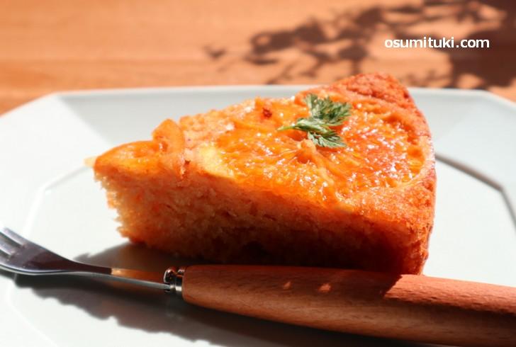 ヴィーガンケーキは「有機清見オレンジケーキ」をチョイス