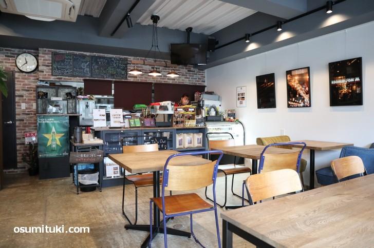 ソーシャルランドリー・カフェ「KYOTO LAUNDRY CAFE」広くてキレイです