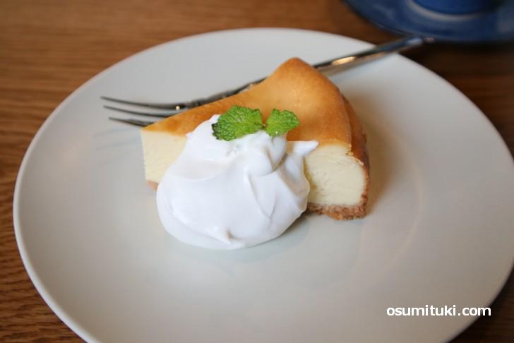 自家製ベイクドチーズケーキ 480円がお薦め