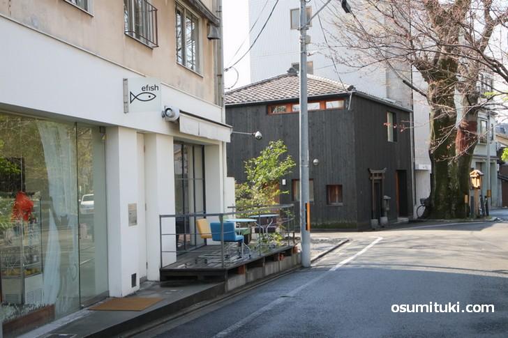 カフェ「efish」が閉店