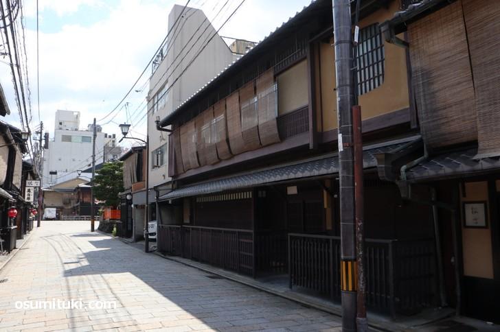 巽橋から3軒西のこの京町家が「Hard Rock Cafe Kyoto」になるらしい