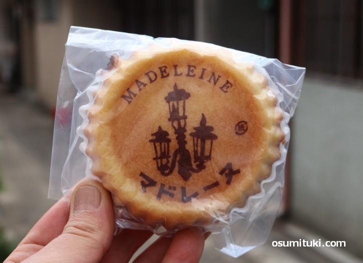 マドレーヌ、素朴な味わいで美味しいです