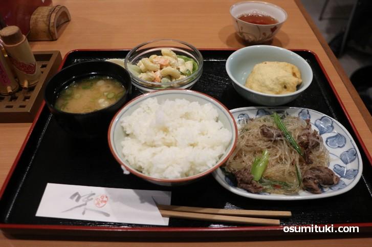 か和か美 お昼の定食(780円)