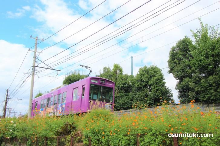 地元を走る電車が映画になりました(谷口円成寺町を走る嵐電)
