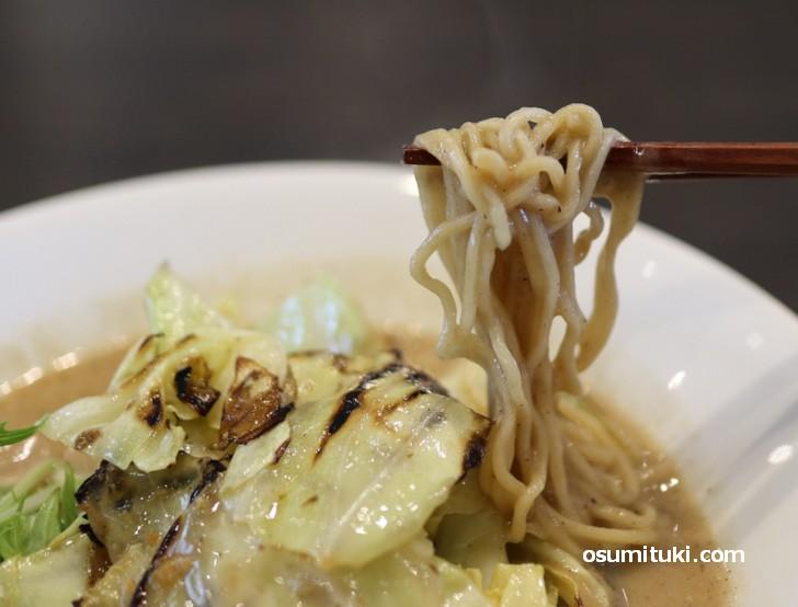 麺はテイガク、オーストラリア小麦100%の特注麺