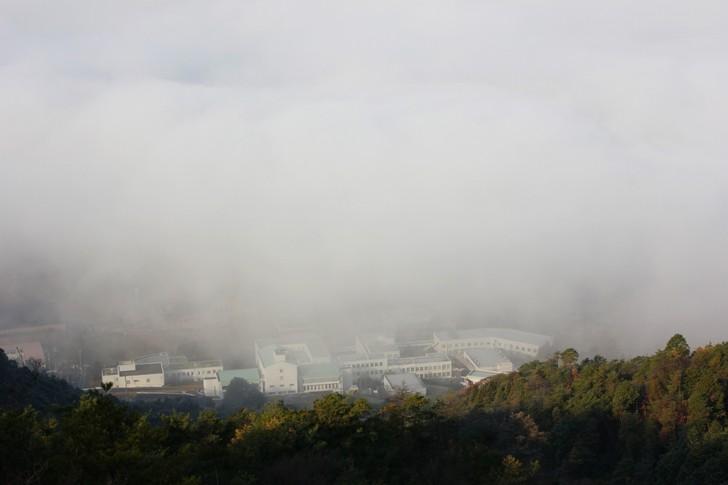 雲海が出ちゃってる時の亀岡の風景